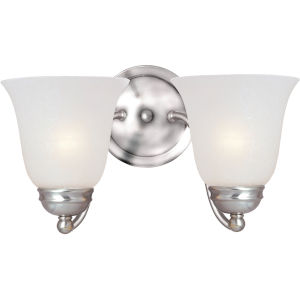 Basix Satin Nickel Two-Light Wall Sconce