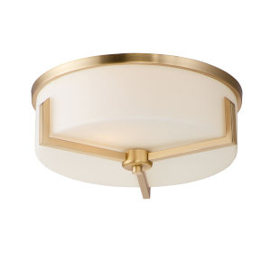 Dart Satin Brass Three-Light Flush Mount