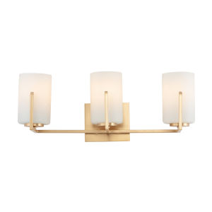 Dart Satin Brass Three-Light Vanity Light