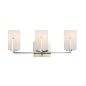 Dart Satin Nickel Three-Light Vanity Light