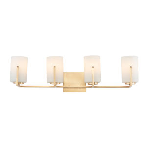 Dart Satin Brass Four-Light Vanity Light