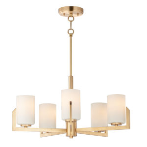 Dart Satin Brass Five-Light Chandelier