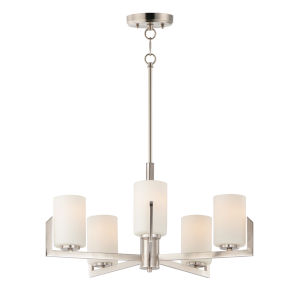 Dart Satin Nickel Five-Light Chandelier