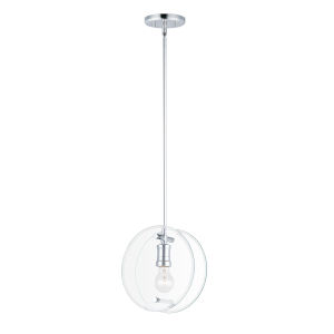 Looking Glass Polished Chrome 10-Inch One-Light Mini Pendant
