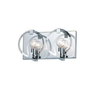 Looking Glass Polished Chrome Two-Light ADA Bath Vanity