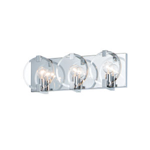 Looking Glass Polished Chrome Three-Light ADA Bath Vanity