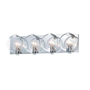 Looking Glass Polished Chrome Four-Light ADA Bath Vanity