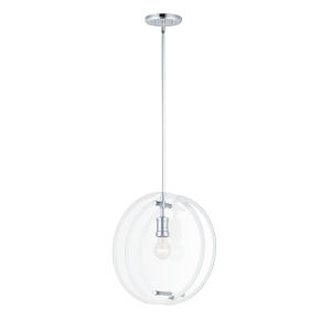 Looking Glass Polished Chrome 15-Inch One-Light Mini Pendant