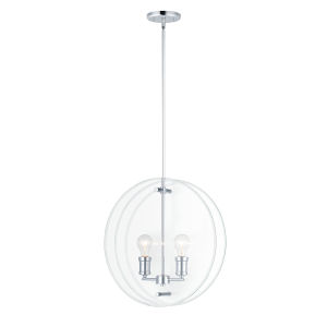 Looking Glass Polished Chrome Two-Light Mini Pendant