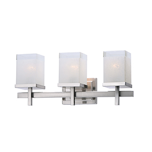 Tetra Satin Nickel 22-Inch Three-Light Bath Vanity