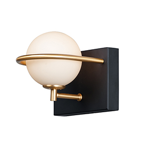 Revolve Black and Gold LED Wall Sconce
