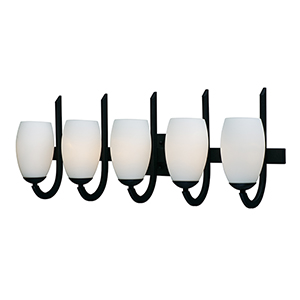 Taylor Textured Black Five-Light Wall Sconce