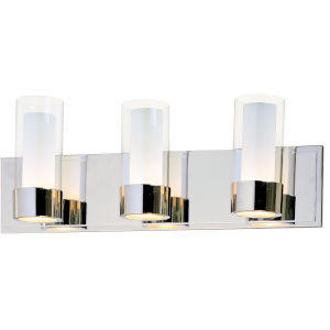 Silo Polished Chrome 21-Inch Three-Light LED Bath Vanity