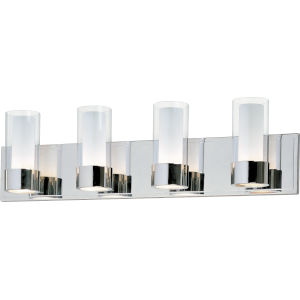 Silo Polished Chrome 27-Inch Four-Light LED Bath Vanity