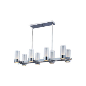 Silo Polished Chrome 11-Inch Eight-Light LED Linear Pendant