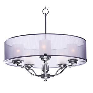 Lucid Satin Nickel 26-Inch Five-Light Pendant
