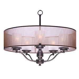 Lucid Oil Rubbed Bronze 26-Inch Five-Light Pendant