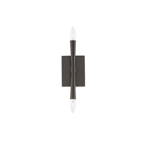 Rome Black Two-Light Wall Sconce