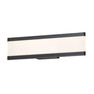 Visor Black Two-Light ADA LED Vanity Light Shade 3000 Kelvin 1520 Lumens