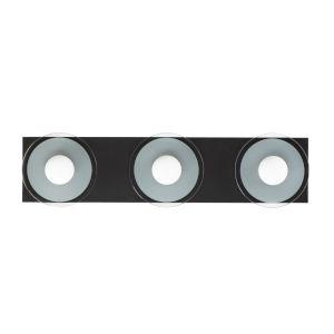 Helio Black Three-Light ADA LED Vanity Light
