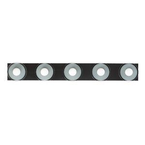 Helio Black Five-Light ADA LED Bath Vanity