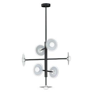 Helio Black Seven-Light LED Pendant