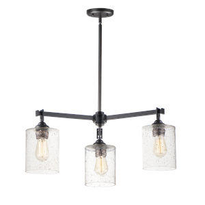 Stonehenge Bronze Three-Light Chandelier
