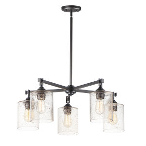 Stonehenge Bronze Five-Light Chandelier