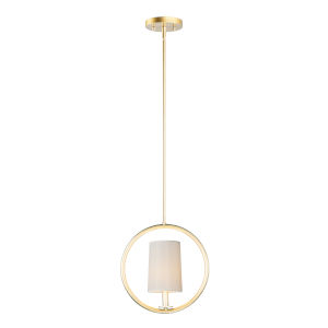 Meridian Natural Aged Brass One-Light Convertible Pendant