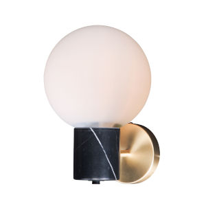 Vesper Satin Brass and Black Eight-Inch One-Light Wall Sconce