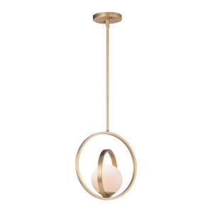 Coronet Satin Brass 12-Inch One-Light Adjustable Pendant
