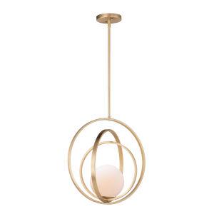 Coronet Satin Brass 18-Inch One-Light Adjustable Pendant