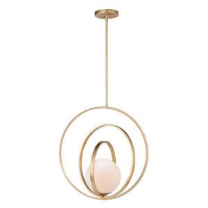 Coronet Satin Brass 21-Inch One-Light Adjustable Pendant