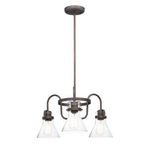 Seafarer Oil Rubbed Bronze 22-Inch Three-Light Single-Tier Chandelier