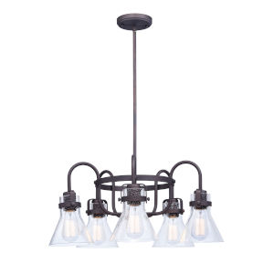 Seafarer Oil Rubbed Bronze 24-Inch Five-Light Single-Tier Chandelier