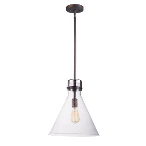 Seafarer Oil Rubbed Bronze 14-Inch One-Light Adjustable Pendant
