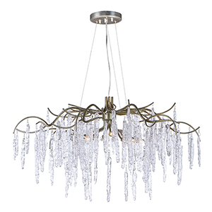 Willow Silver Gold 35-Inch LED Chandelier
