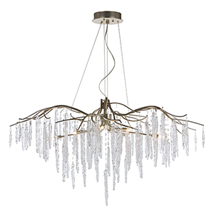Willow Silver Gold 45-Inch Eight-Light Chandelier