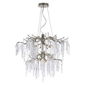 Willow Silver Gold Tiered 35-Inch LED Chandelier
