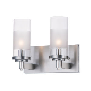Crescendo Satin Nickel 11-Inch Two-light Wall Sconce