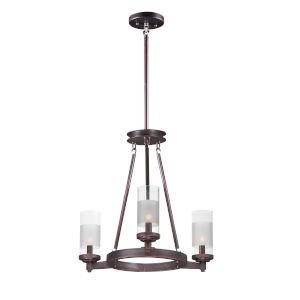 Crescendo Oil Rubbed Bronze 20-Inch Three-Light Adjustable Chandelier