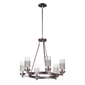 Crescendo Oil Rubbed Bronze 25-Inch Six-Light Adjustable Single-Tier Chandelier