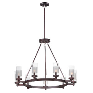Crescendo Oil Rubbed Bronze 35-Inch Nine-Light Adjustable Chandelier