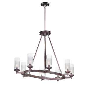 Crescendo Oil Rubbed Bronze 24-Inch Eight-Light Adjustable Chandelier
