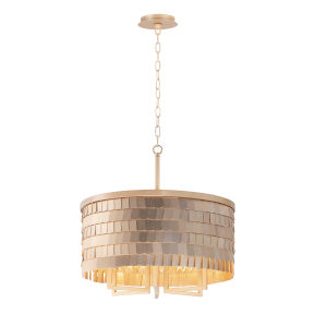 Glamour Champagne and Gold 20-Inch Six-Light Chandelier