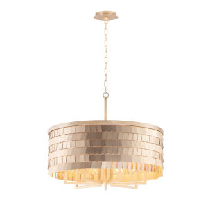 Glamour Champagne and Gold Seven-Light Chandelier