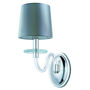 Venezia Polished Nickel Six-Inch One-Light Wall Sconce with Silver Shade