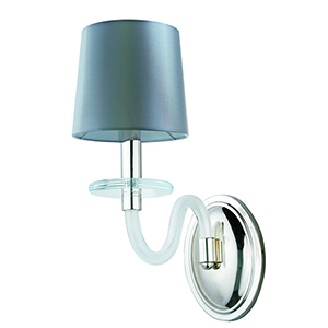 Venezia Polished Nickel Six-Inch One-Light Wall Sconce with Frosted Glass