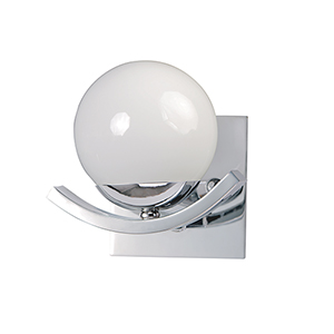 Motion Polished Chrome Seven-Inch One-Light Wall Sconce
