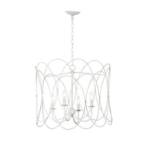 Trellis Weathered White Four-Light Pendant